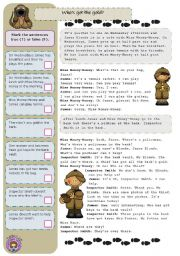 English Worksheets: Who�s got the gold? (3/4)