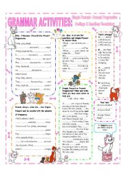 English Worksheet: HANDOUT - SIMPLE PRESENT & PRESENT PROGRESSIVE
