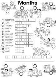 English Worksheet: MONTHS PUZZLE