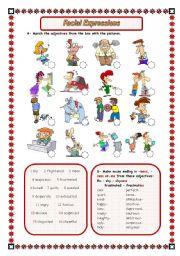 English Worksheets: FACIAL EXPRESSIONS