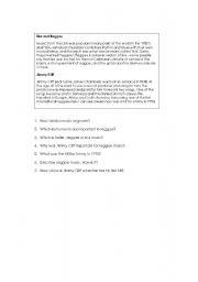 English Worksheets: ska and reggae