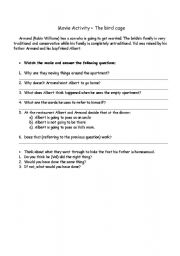 English Worksheets: THE BIRD CAGE - MOVIE ACTIVITY