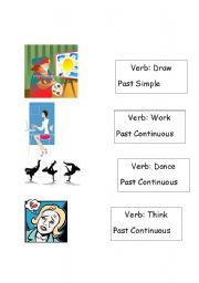 English Worksheet: Past Simple and Past Continuous Tense Revision - Game Part 2