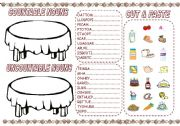 English Worksheets: COUNTABLE & UNCOUNTABLE NOUNS CUT & PASTE