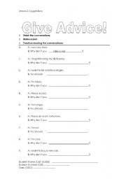 English Worksheets: Suggestions and Advice