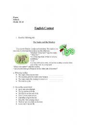 English Worksheets: english contest