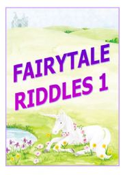 English Worksheets: fairytale riddles - part 1