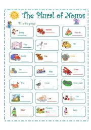English Worksheets: THE PLURAL OF NOUNS 2/4
