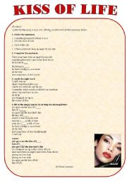 English worksheet: kiss of life