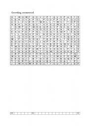 English Worksheets: greeting crossword