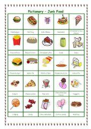 English Worksheet: Pictionary - Junk Food