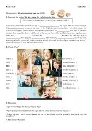 English Worksheets: Movie Activity: He�s Just Not That Into You