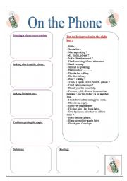 English Worksheets: On the Phone
