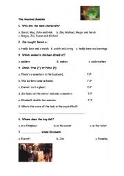 English Worksheets: The Haunted Mansion Movie