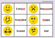English Worksheets: Emoticons Memory Cards Game