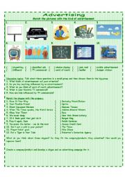 English Worksheet: Kinds of advertisement