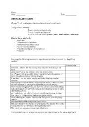 English Worksheets: Factual recounts