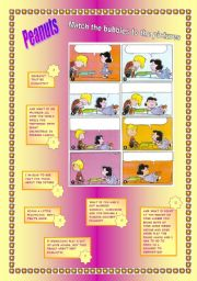 English Worksheets: Peanuts - Fill in the bubbles