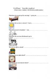 English Worksheets: Everyday questions.
