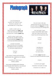 English Worksheets: Photograph - Nickelback