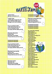 English Worksheet: EARTH SONG