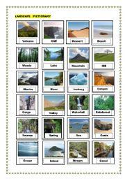english worksheets landscape pictionary. Black Bedroom Furniture Sets. Home Design Ideas