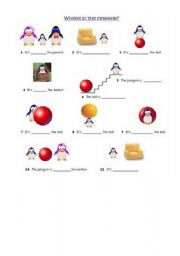 English Worksheets: where is the pinguin