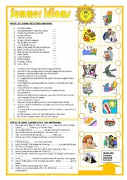 English Worksheet: Summer idioms