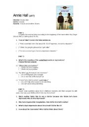 English Worksheets: Annie Hall (movie activity)