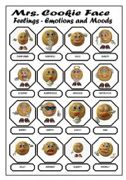 English Worksheet: Feelings Emotions and Moods Pictionary