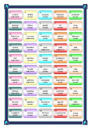 English Worksheets: Word formation game 2
