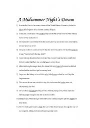 english teaching worksheets midsummer night s dream. Black Bedroom Furniture Sets. Home Design Ideas