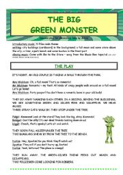 English Worksheet: The Big Green Monster - a children´s play