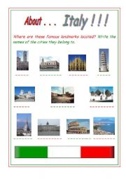 English teaching worksheets: Italy