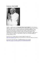 English Worksheet: Reading Gandhi