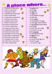 English worksheet: A place where...