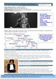 English Worksheets: Michael Jackson - biography