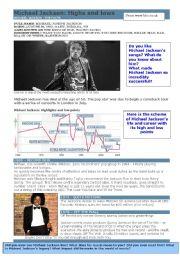 English Worksheets: Michael Jackson - biography