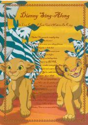 English Worksheets: Disney sing-along