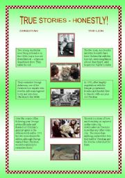 English Worksheets: Christian the lion