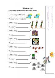 English Worksheets: How many