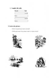 English Worksheet: activities related to the book robinson crusoe