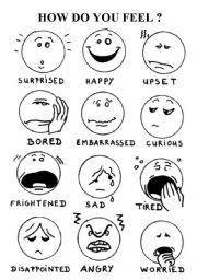 English Worksheets: How do you feel ?
