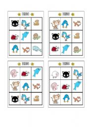 English Worksheet: Bingo - Animals Page 2