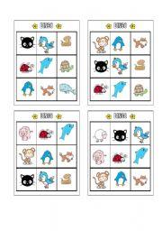 English Worksheets: Bingo - Animals Page 2
