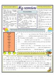 English Worksheets: MY EXERCISES
