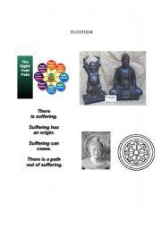 English Worksheets: Buddhism Pics/Info