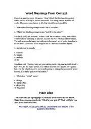 English Worksheets: skim