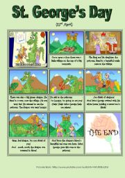 English Worksheets: The Legend of St George