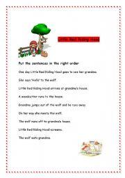 little red riding hood worksheet esl worksheet by raquelgil. Black Bedroom Furniture Sets. Home Design Ideas